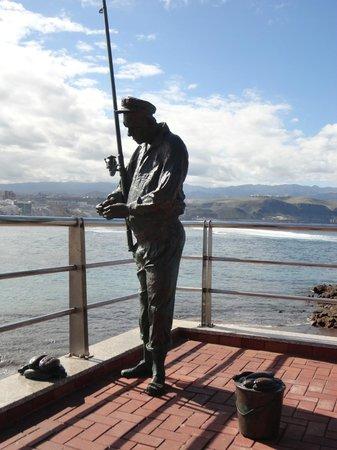 Playa de Las Canteras: il pescatore las canteras