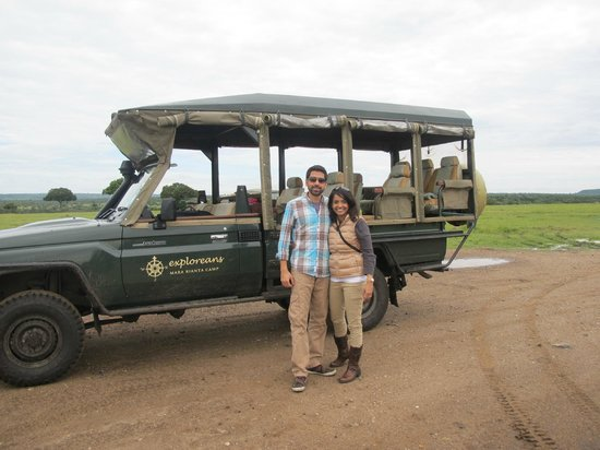 Neptune Mara Rianta Luxury Camp: Our safari vehicle for our stay!
