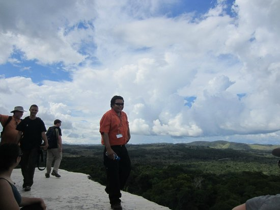 Belizean Dreams: Bernard at the top of Xunatunich