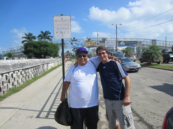 Belizean Dreams Resort: Adam and Luis in Belize City