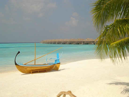 Anantara Kihavah Maldives Villas: The view from the breakfast restaurant