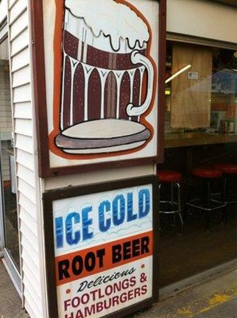 The Root Beer Stand: the sign says it all