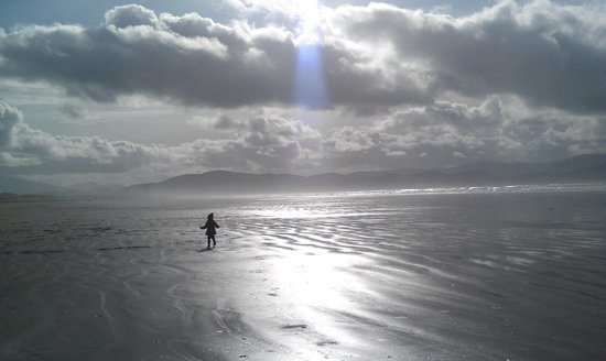 My daughter running around Inch Beach