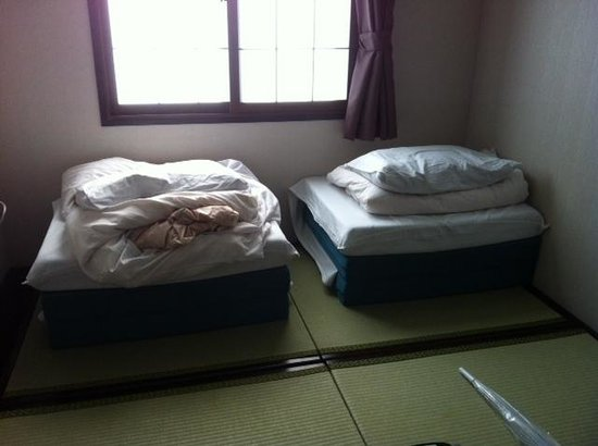 Capsule Ryokan Kyoto: Les lits confort à 100%