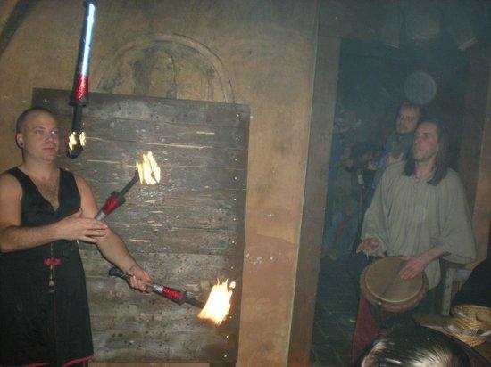 Stredoveka Krcma (Medieval Tavern) : Fire show & Music