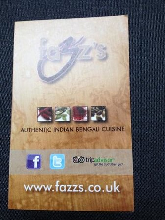 Fazz's Puerto Calero : business card