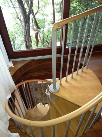 Secret Bay: The staircase in the Bungalow