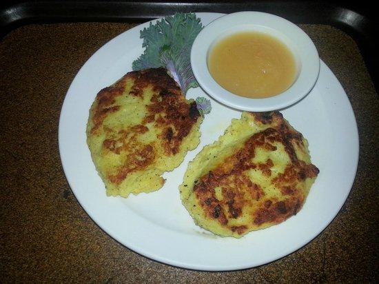 Haus Heidelberg German Restaurant : Potato Pancakes with apple sauce