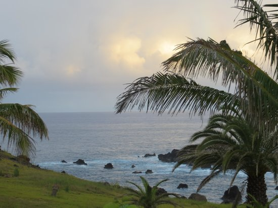 Iorana Hotel: Vista da varanda, easter island, chile