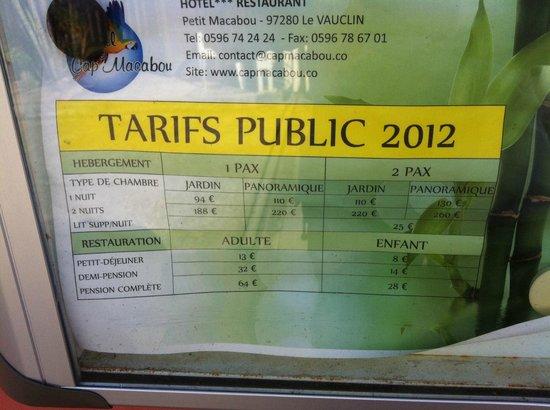 HOTEL CAP MACABOU: prix des petits déjeuners 3 fois trop élevés