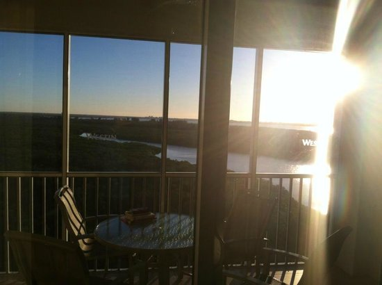 The Westin Cape Coral Resort At Marina Village: Sunrise view from the living room