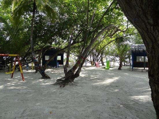 Adaaran Club Rannalhi: Small kids playground with shady trees, Natural sun protection!