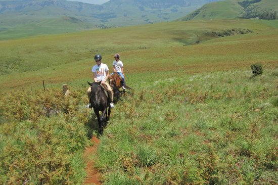 Montusi Mountain Lodge: Riding from the Lodge