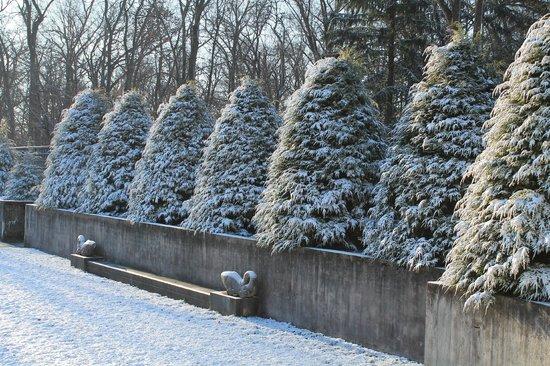 Allerton Park & Retreat Center: Snow in the Sunken Garden