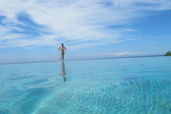 Villa Babar: la piscine avec l'océan derriere