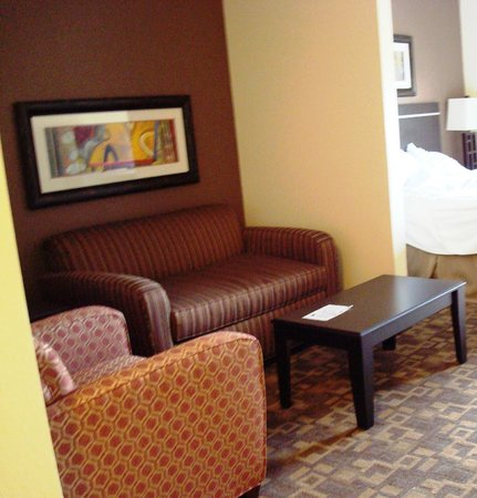Holiday Inn Express Hotel & Suites Lincoln Airport : Seating area