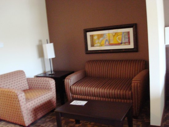 Holiday Inn Express Hotel & Suites Lincoln Airport : Nice seating area