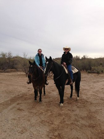Flying E Ranch: Enjoying our Christmas morning ride in the desert