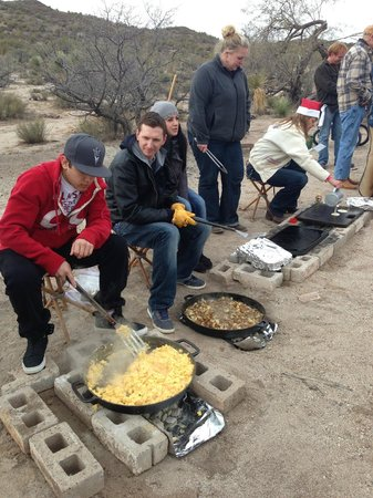 Flying E Ranch: Breakfast served on the range