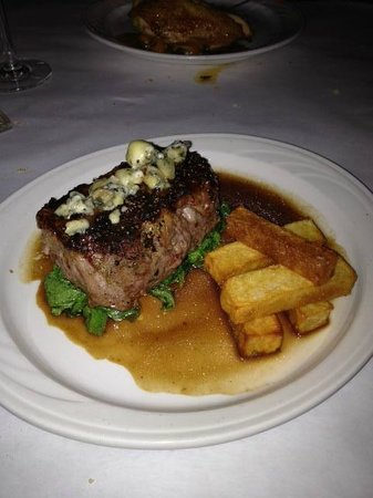 The Downtown Grocery: Northeast Family Farm cut Ribeye Au Poivre, Torched Boucher Blue Cheese