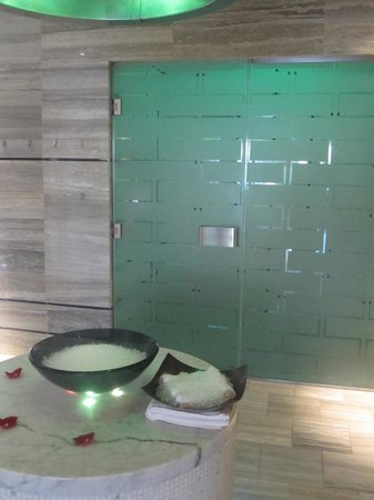 The Spa at Mandarin Oriental, Las Vegas : The ice shower outside the sensation shower