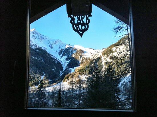 Hotel Chalet Plan Gorret: Vista mattutina dalla mansarda