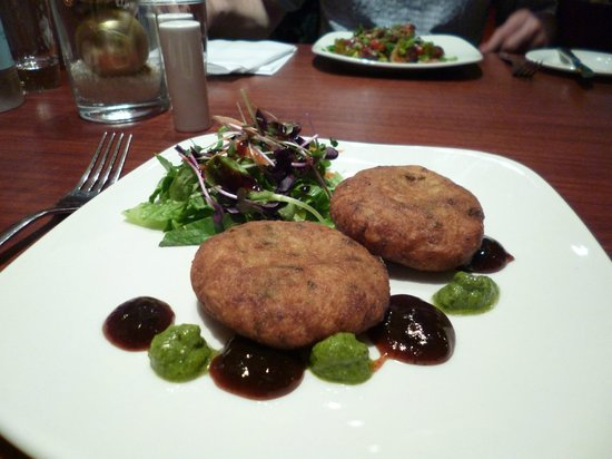 Fire & Spice Bar & Kitchen: potato cakes