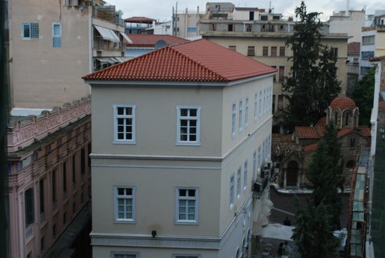 Plaka Hotel: View from room 402