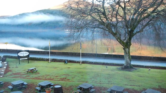 The Village Inn: View of Loch Long from our room.