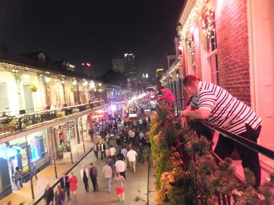 Bourbon Street: Balcony at Bourbon Heat