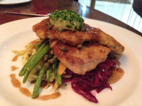 Waypoint Seafood and Grill: Schnitzel and red cabbage - true German!