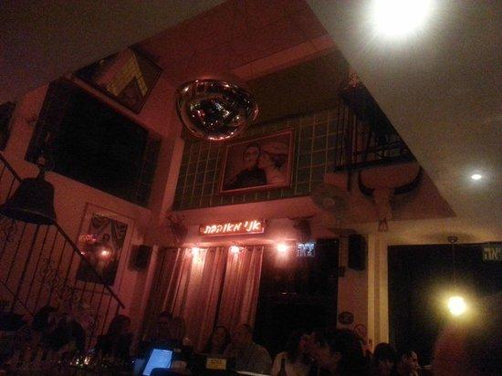 Inside of Nanuchka, view from the bar.