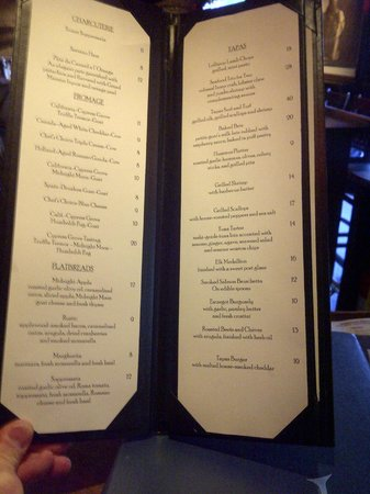 Lambertville Station Restaurant: New Tapas Menu