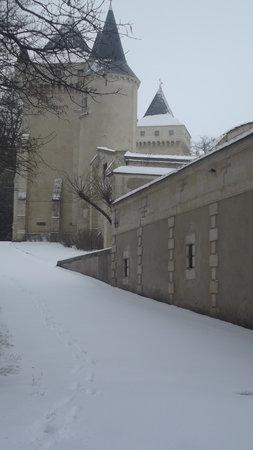 Chateau de la Riviere: Sous la neige
