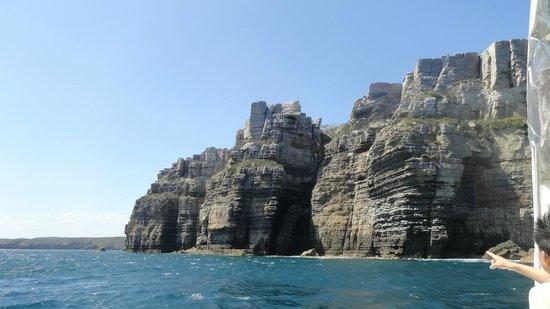 Jervis Bay Wild Cruises: Cliffs off Jervis bay