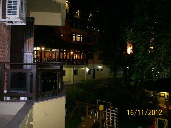 Hotel Recanto da Serra: varanda do apto c/ vista p/ o hotel