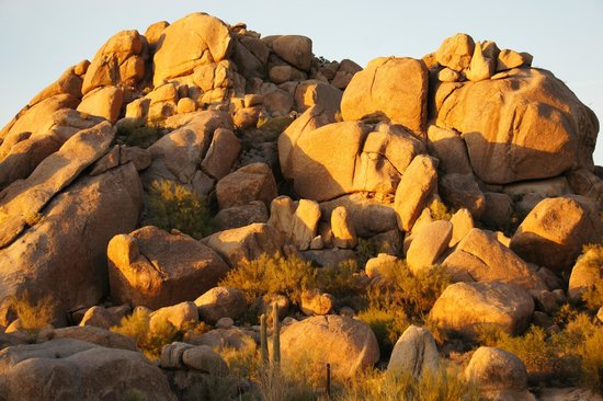 Boulders Resort & Spa, Curio Collection by Hilton: Boulders at sunset