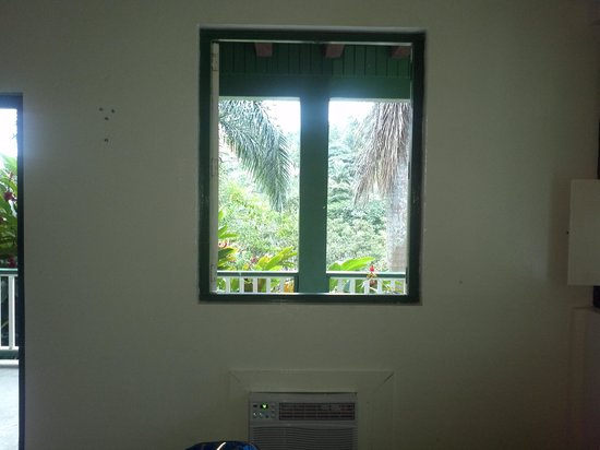 Hacienda Gripinas: view out window of room