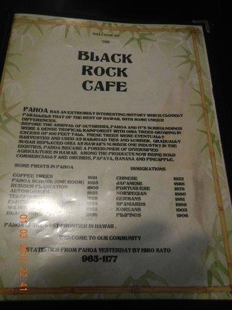 Black Rock Cafe: lunch-dinner menu