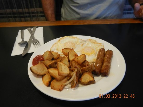 Black Rock Cafe: basic with potatoes and sausage
