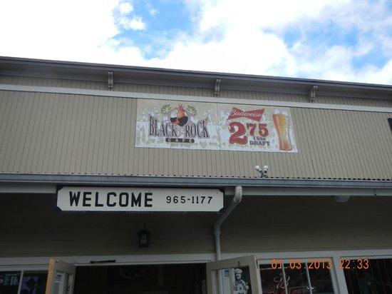 Black Rock Cafe: exterior signage
