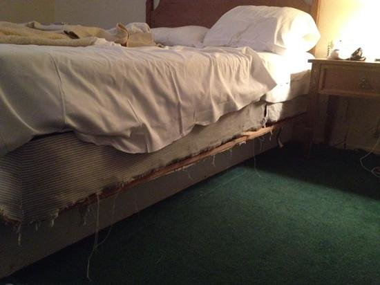 Tahoe Inn: ripped box spring