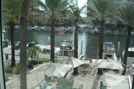 Tampa Marriott Waterside Hotel & Marina: view of the channel