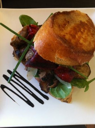 Pickled Pelican: open Moroccan veal sandwich