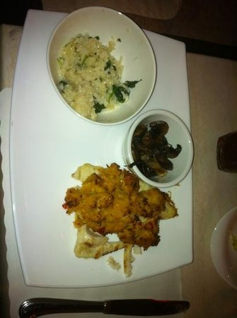 Marc's Dockside Eatery : Grilled White Fish dressed with a Crab Cake