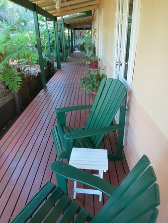 Margaret River Guest House: Verandah Outside Our Room with Adirondack Chairs