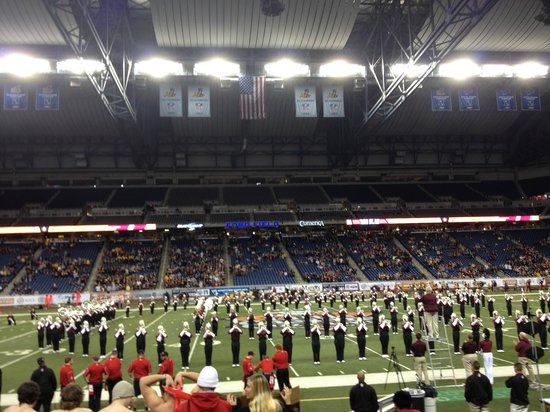 inside the dome - picture of ford field, detroit - tripadvisor
