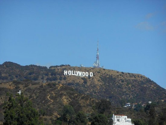 VIP Tours of California: Hollywood sign, you dont not get very close this was zoomed.