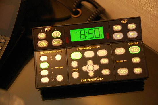 The Peninsula Tokyo: Controls from bed