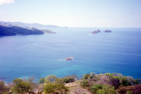 Golfo Papagayo from the heights of Playa Hermosa